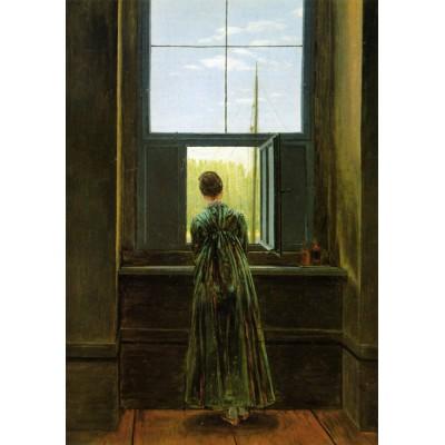 Puzzle Grafika-00419 Caspar David Friedrich: Frau am Fenster, 1822