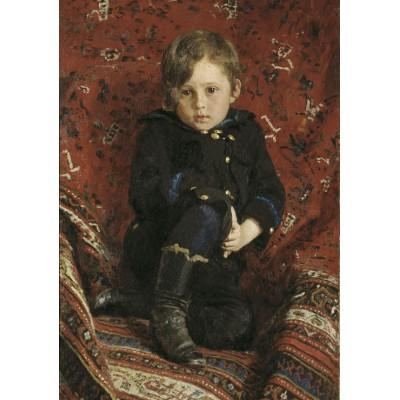Puzzle Grafika-00420 Ilya Repin: Portrait de Yuri, 1882