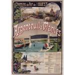 Puzzle  Grafika-00423 Affiche Chemins de Fer: Argenteuil-Mantes, 1893