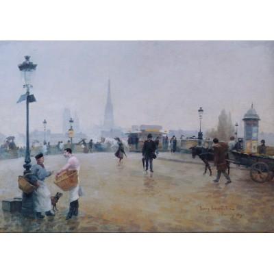Puzzle Grafika-00425 Léon-Jules Lemaître: Le Pont Corneille - Rouen, 1890