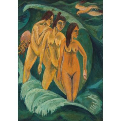 Puzzle Grafika-00434 Ernst Ludwig Kirchner: Drei Badende, 1913