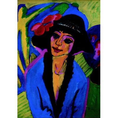 Puzzle Grafika-00435 Ernst Ludwig Kirchner: Bildnis Gerda, 1914
