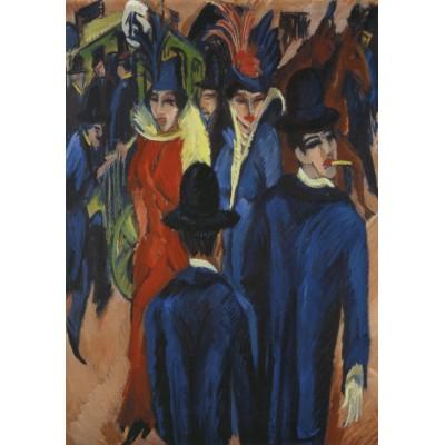 Puzzle Grafika-00436 Ernst Ludwig Kirchner: Berliner Straßenszene, 1913