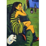Puzzle  Grafika-00437 Ernst Ludwig Kirchner: Artistin - Marcella, 1910