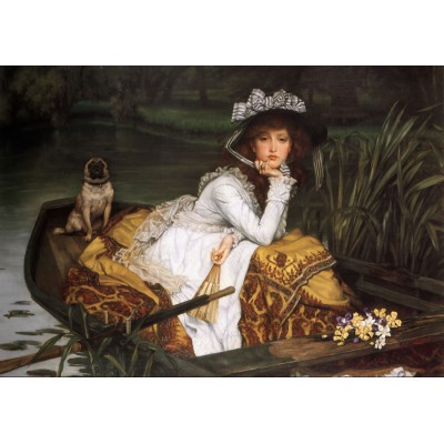 Puzzle Grafika-00443 James Tissot: Young Lady in a Boat