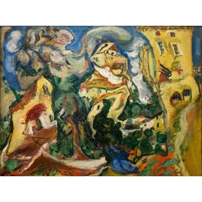 Puzzle Grafika-00451 Chaïm Soutine: Le Village, 1923