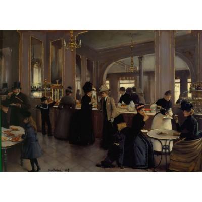 Puzzle Grafika-00455 Jean Béraud: La Pâtisserie Gloppe sur les Champs-Élysées - Paris, 1889