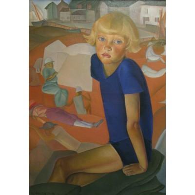 Puzzle Grafika-00459 Boris Grigoriev: Portrait du Fils de l'Artiste - Kirill, 1920