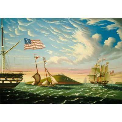 Puzzle Grafika-00466 Thomas Chambers: Le Port de Boston, XIXe Siècle