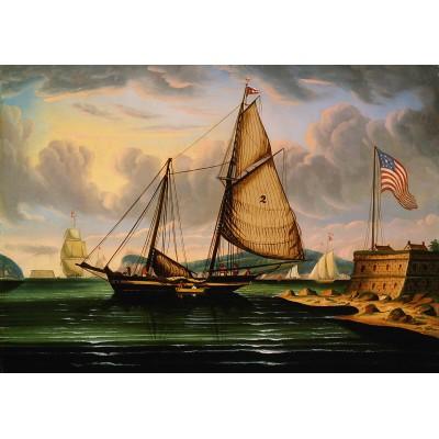 Puzzle Grafika-00468 Thomas Chambers: New York Harbor with Pilot Boat
