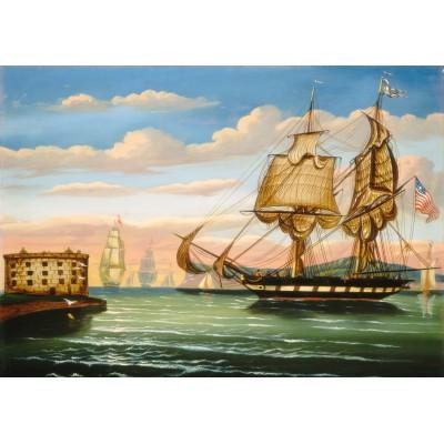 Puzzle Grafika-00469 Thomas Chambers: Bay of New York, Sunset, XIXe Siècle