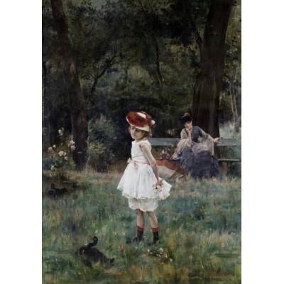 Puzzle Grafika-00479 Alfred Stevens: La Fillette aux Canards, 1881