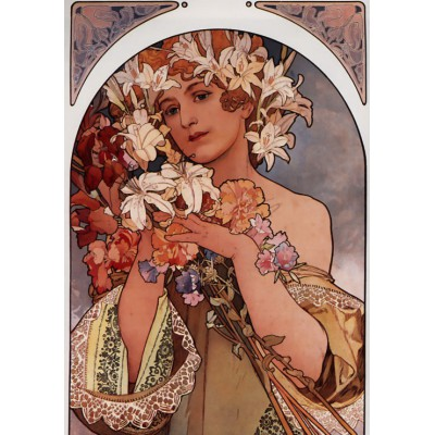 Puzzle Grafika-00497 Alfons Mucha: La Fleur, 1897