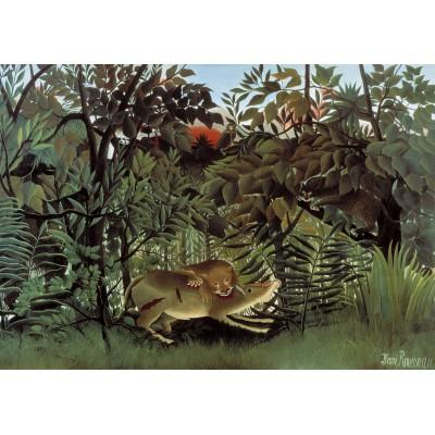 Puzzle Grafika-00498 Henri Rousseau: Le Lion ayant Faim se jette sur l'Antilope, 1905