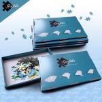 Puzzle  Grafika-00499 Blaue Sortierkästen im 6er-Set
