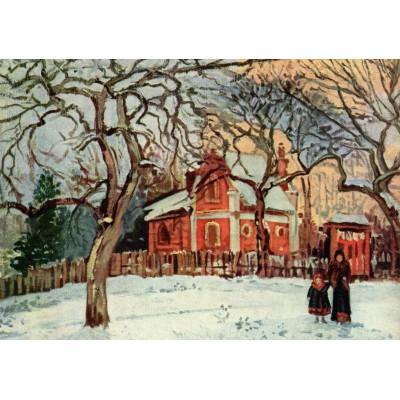 Puzzle Grafika-00513 Camille Pissarro: Châtaignier à Louveciennes, 1870