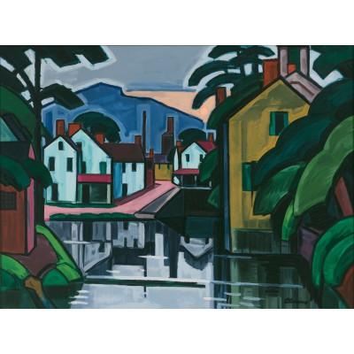 Puzzle Grafika-00516 Oscar Bluemner: Old Canal Port, 1914