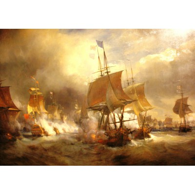 Puzzle Grafika-00522 Théodore Gudin: Bataille d'Ouessant, 1848