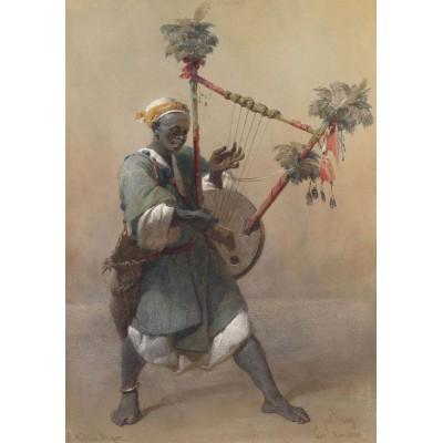 Puzzle Grafika-00536 Carl Haag: A Nubian Harper, 1858
