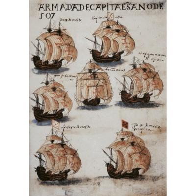 Puzzle Grafika-00541 Armada portugaise, 1565