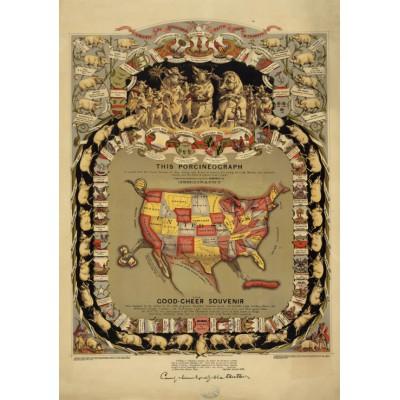 Puzzle Grafika-00551 Porcineograph, 1875