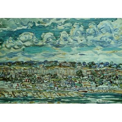 Puzzle Grafika-00554 Maurice Prendergast: St. Malo , 1907