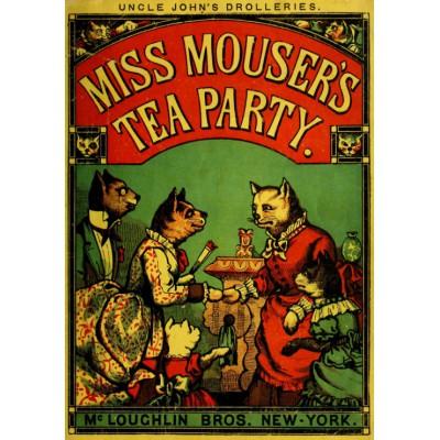 Puzzle Grafika-00558 McLoughlin Bros: Miss Mouser's Tea Party , 1880