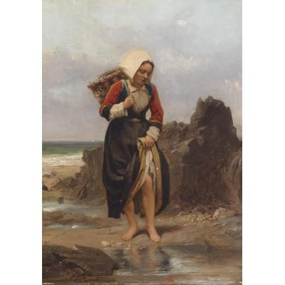 Puzzle Grafika-00582 Charles Giraud: Junges Mädchen am Ufer