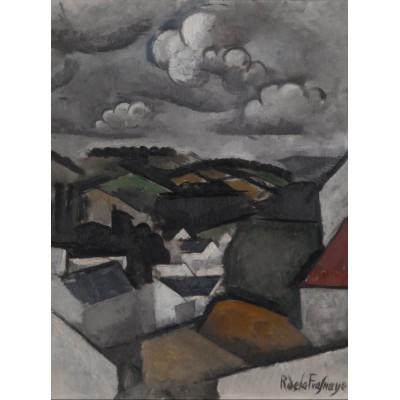 Puzzle Grafika-00611 Roger de La Fresnaye: Paysage avec un Village, les Collines de Meulan, 1911