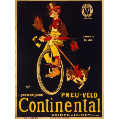 Puzzle Grafika-00613 Poster for Continental tires, 1900