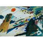 Puzzle  Grafika-00627 Wassily Kandinsky - Romantic Landscape, 1911