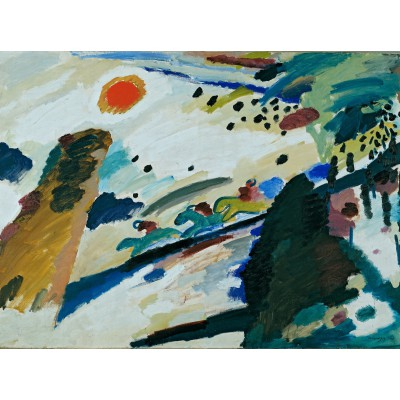Puzzle Grafika-00628 Wassily Kandinsky - Romantic Landscape, 1911