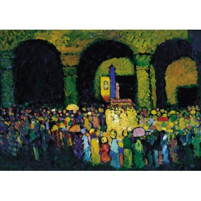 Puzzle Grafika-00639 Wassily Kandinsky: The Ludwigskirche in Munich, 1908