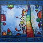 Puzzle  Grafika-00662 Anne Poiré & Patrick Guallino: Echelle jouant Crescendo