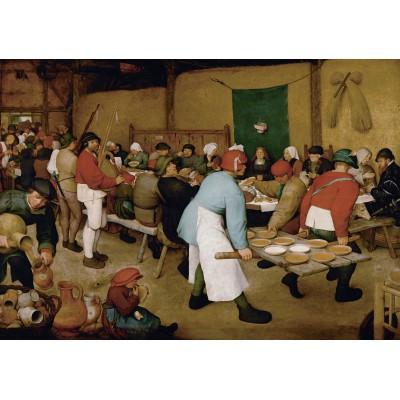 Puzzle Grafika-00679 Brueghel der Ältere: Bauernhochzeit, 1567-1568