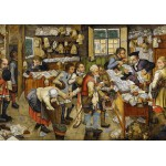 Puzzle  Grafika-00680 Brueghel Pieter der Jüngere: Bezahlung des Zehnten, 1617-1622