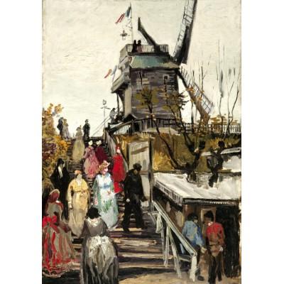 Puzzle Grafika-00685 Van Gogh Vincent: Le Moulin de Blute-Fin, 1886