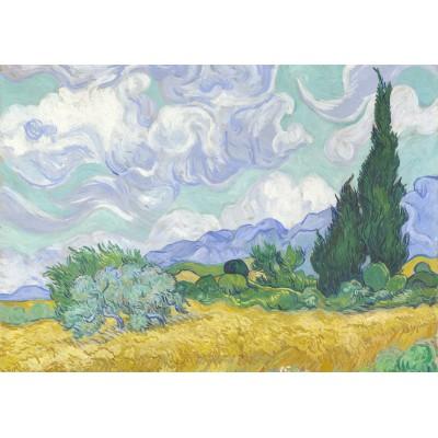 Puzzle Grafika-00687 Van Gogh Vincent: Champ de Blé avec Cyprès, 1899