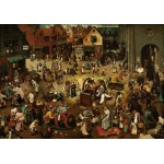Puzzle  Grafika-00694 Brueghel Pieter: Der Kampf zwischen Karneval und Fasten, 1559