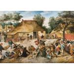 Puzzle  Grafika-00696 Brueghel: Die Bauernhochzeit, 1568