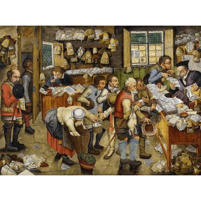 Puzzle Grafika-00699 Brueghel Pieter der Jüngere: Bezahlung des Zehnten, 1617-1622