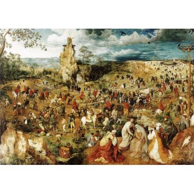 Puzzle Grafika-00701 Brueghel Pieter: Die Kreuztragung Christi, 1564