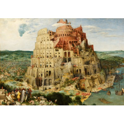 Puzzle Grafika-00703 Brueghel Pieter: Der Turmbau zu Babel, 1563