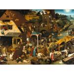 Puzzle  Grafika-00707 Brueghel Pieter: Die niederländischen Sprichwörter, 1559
