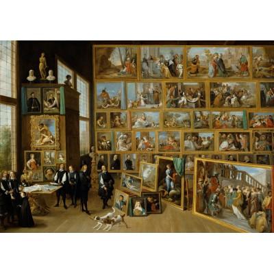 Puzzle Grafika-00712 David Teniers: Erzherzog Leopold Wilhelm in seiner Galerie in Brüssel