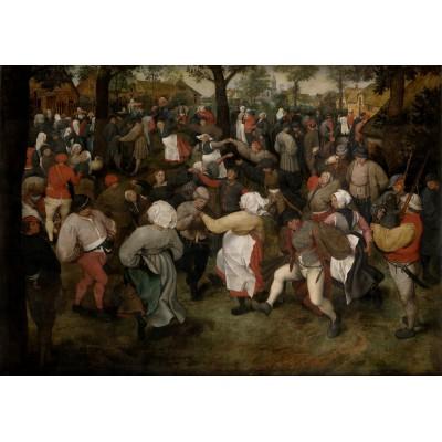 Puzzle Grafika-00715 Brueghel Pieter: Der Tanz der Bauern im Freien, 1566