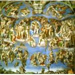 Puzzle  Grafika-00724 Michelangelo: Das jüngste Gericht