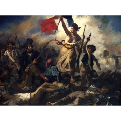 Puzzle Grafika-00774 Eugène Delacroix: Die Freiheit führt das Volk, 1830