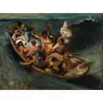 Puzzle  Grafika-00776 Eugène Delacroix: Christus im Sturm auf dem Meer, 1841