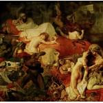 Puzzle  Grafika-00783 Eugène Delacroix: Der Tod des Sardanapal, 1827